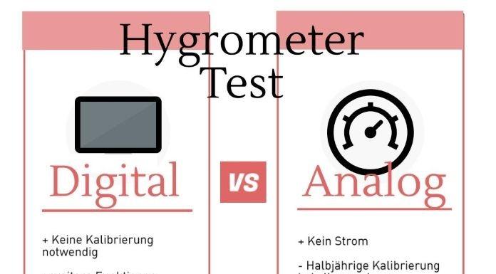 Hygrometer digital vs. analog, unterschied